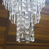 Lustre Clássico em Cristal 8 Lâmpadas 90 cm x 45 cm