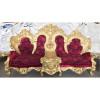 Jogo-de-Sofá-Clássico-Imperial-Folheado-a-Ouro-Vermelho-4-Poltronas-161x191x110cm