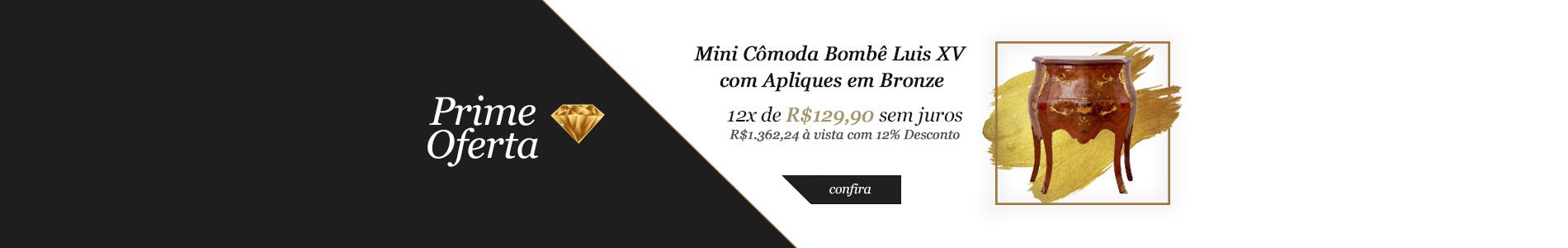 Prime Oferta - Mini Cômoda Bombê Luis XV