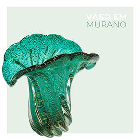 Vaso em Murano Verde